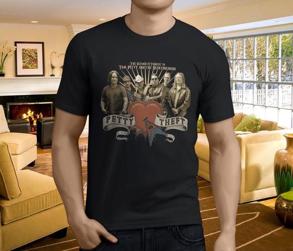 Nuevo Tom Petty y los rompecorazones Camiseta para hombre American Rock Black Talla S-3XL