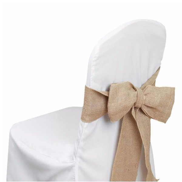 Superb Burlap Chair Bow Sashes Burlap Ribbon For Banquet Wedding Party Baby Shower Craft Chair Cover Decor Fr Store 7X 108 Chair Cover Rental Wholesale Evergreenethics Interior Chair Design Evergreenethicsorg