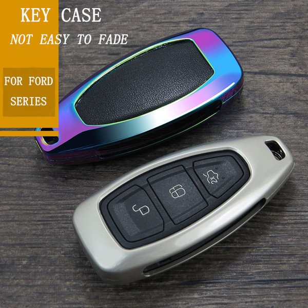 2019 New fashion ZINC ALLOY Cassa Chiave Dell'automobile Copertura Per FORD C-MAX FOCUS RS ST Fiesta Hatch Car Shell Shell Chiave Styling Keycase