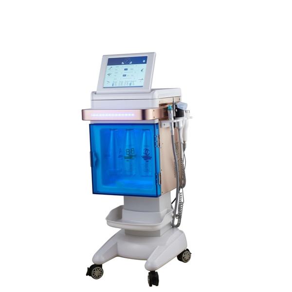 5 in 1 çok fonksiyonlu bipolar rf ultrasonik kriyo asansör hidro dermabrazyon yüz güzellik makinesi