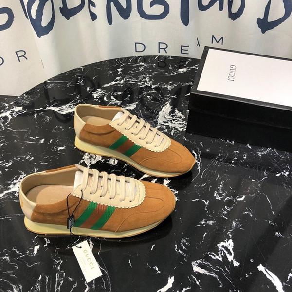2019z yeni trend lüks tasarımcı çift ayakkabı yüksek kalite çizgili rahat ayakkabılar moda vahşi erkekler ve kadınlar spor ayakkabı