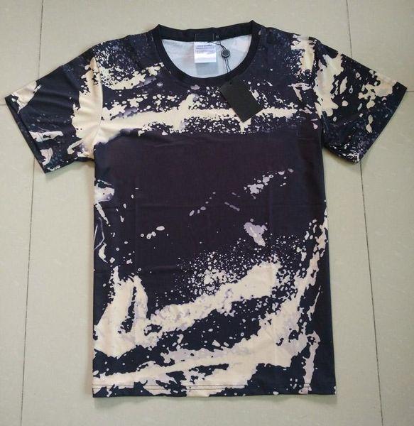 18ss Fashion High Quality Europe Paris Summer Camo Painting T-shirt Top Men Women Clothing Sport Cotton Casual Graffiti T Shirt
