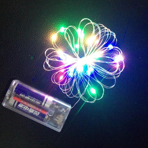 Fabricantes linternas led cadena caja de batería de alambre de cobre Decoración navideña luces de globo ola bola lámpara lámpara de alambre de cobre al por mayor