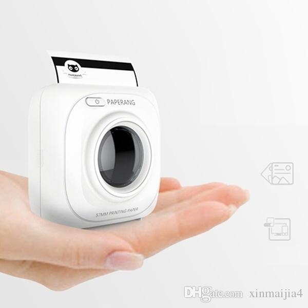Beyaz Taşınabilir Yazıcı Bluetooth Kablosuz mini Fotoğraf Yazıcı Sıcak satış Kablosuz Cep Bağlantı Yazıcı 1000 mAh Lityum-iyon Pil