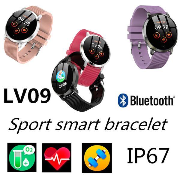 LV09 Мода спортивный умный браслет Артериальное давление Heart Rate fit-bit Фитнес-трекер для iOS-Apple Xiaomi mi Band 4 фитнес-часы SmartWatch