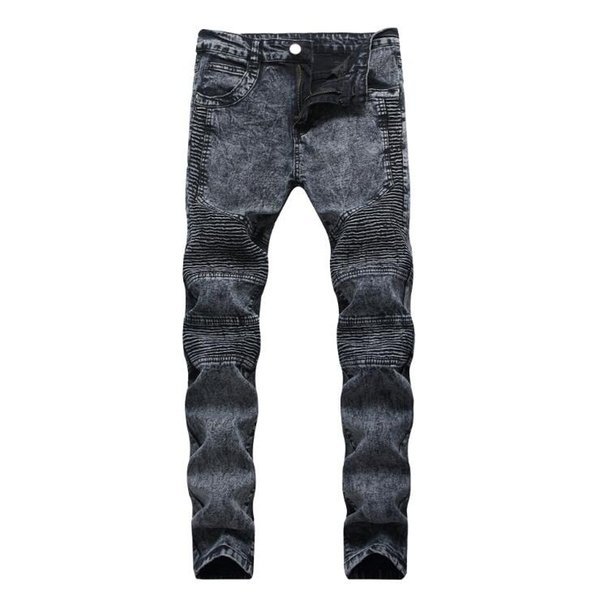 Long Skinny Denim Pencil Pants Ripped Jeans For Men Spring Casual Hole Jeans Pants Slim Trousers Clothes Plus Size 28-42