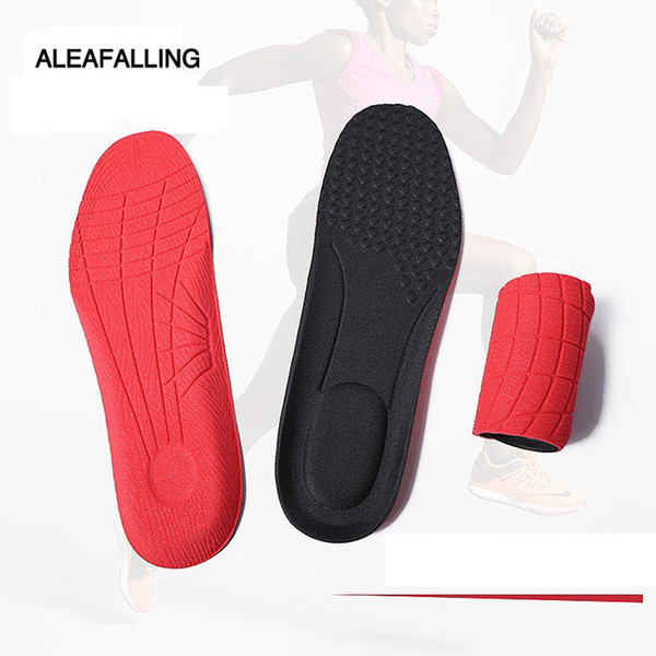 Aleafalling Semelles Souple Respirant Pied Souple Unisexe Chaussures Inserts Pad Chaussure Gel Cool Deodorant Orthotic Train Insole 35-44