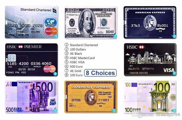 KalaTeK Genuine Memory Stick USB 2.0 Flash Drive Key Creative Credit Bank Card Style Pattern 16/32/64GB Visa Flash/Jump Drive