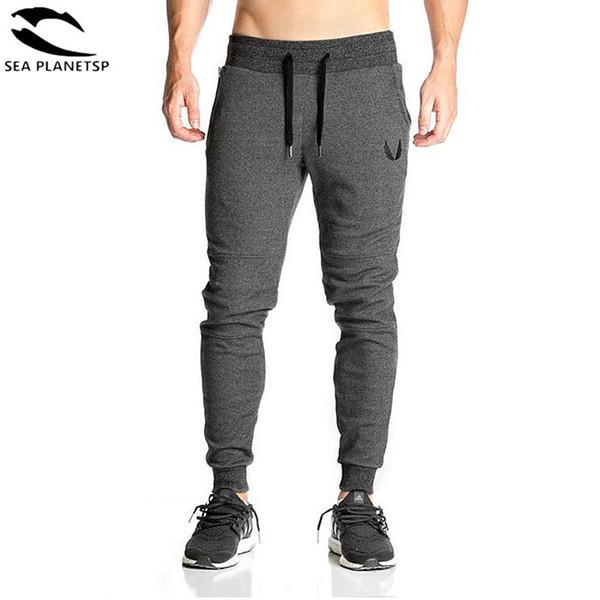 Pantaloni sportivi del cotone degli uomini del pieno di 2019 pantaloni di cotone elastico casuali degli uomini di allenamento di forma fisica Pantaloni di pantaloni sportivi jogging pantaloni skinny