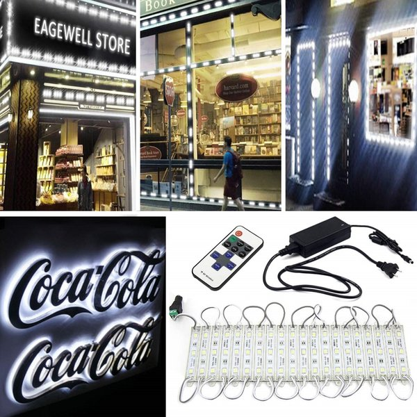 best selling 20FT 40pcs LED Modules Storefront Window LED Light Kit 5630 Injection LED Module Light with 3A Power Plug and Remote Controller