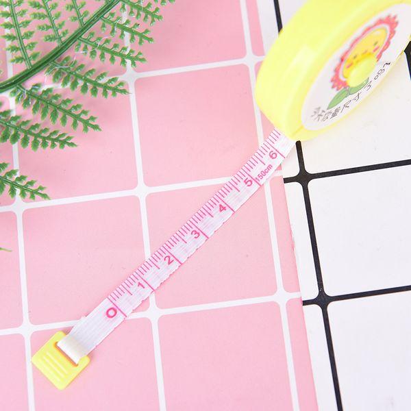 ZLinKJ 150 CM Mini Ölçüm Bandı Tedbir Geri Çekilebilir Metrik Kemer Taşınabilir Cetvel Santimetre Inç Çocuk Yüksekliği Cetvel