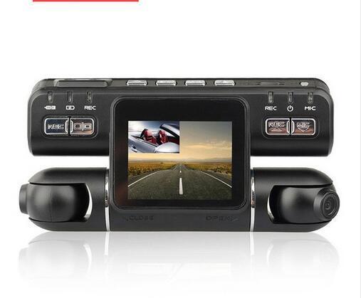 "Dual Lens Car DVR Camera Video Recorder I4000 Full HD 1080P 320 Degree 2.0""LCD G-Sensor Dash Cam Car Black Bo"