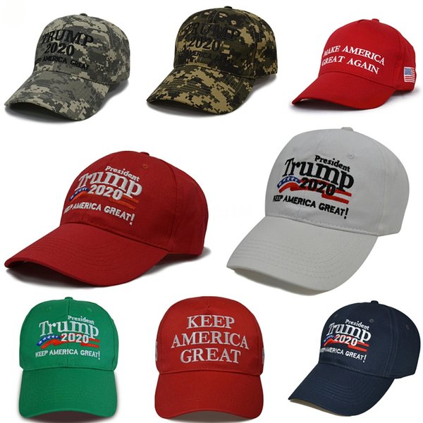 11 styles new president donald trump 2020 hat usa flag star camouflage baseball cap men women cotton hip hop snapback caps hats n92y #480 thumbnail