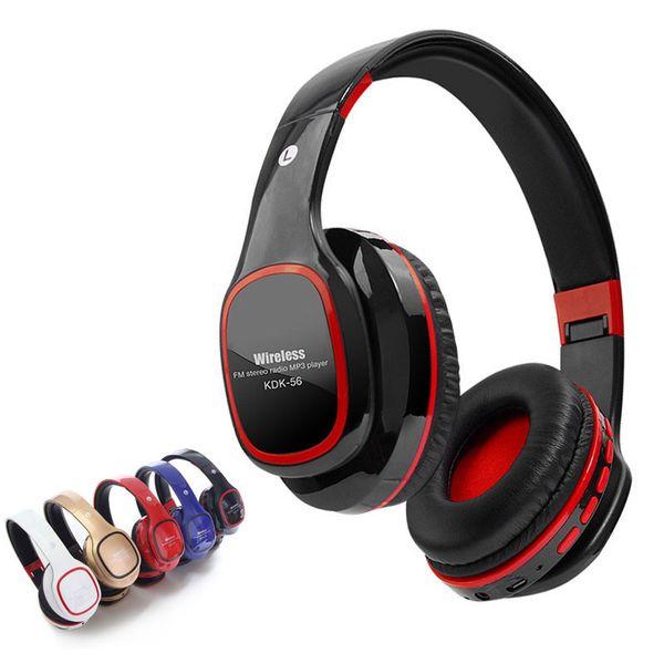 Música estéreo para auriculares de alta fidelidad plegable con auriculares Bluetooth con micrófono Función Micro TF Radio FM de manos libres para teléfonos de PC