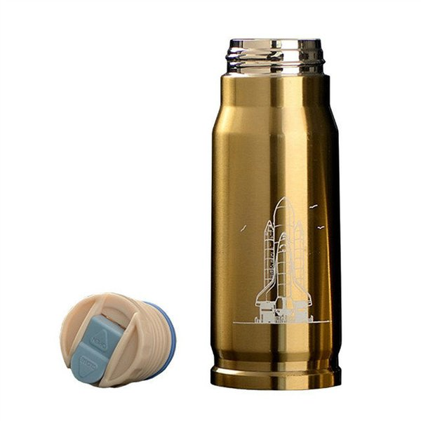 2019 Creative Bullet shape Bottle Stainless Steel Double Wall Vacuum Thermos 350ML Cup DHL Free Shipping