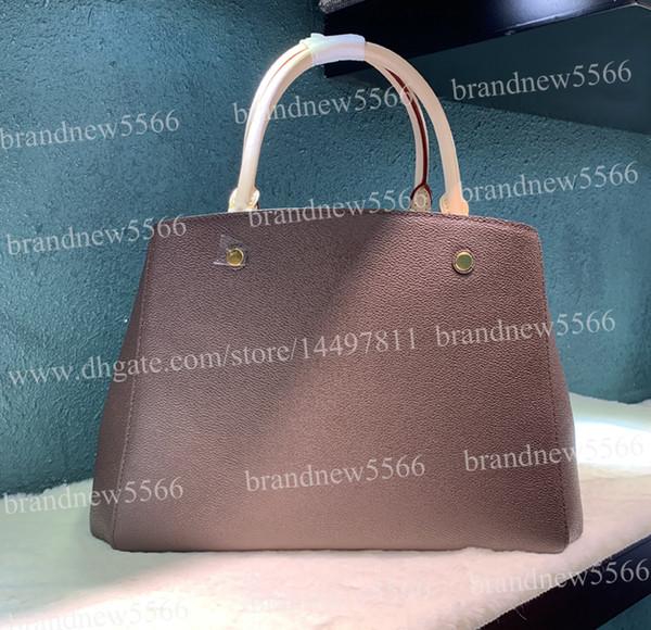 7A calidad 33 CM bolso de cuero genuino de las mujeres Tote 41056 moda diseño bandolera con cinturón señora medio mano bolsas brandnew5566