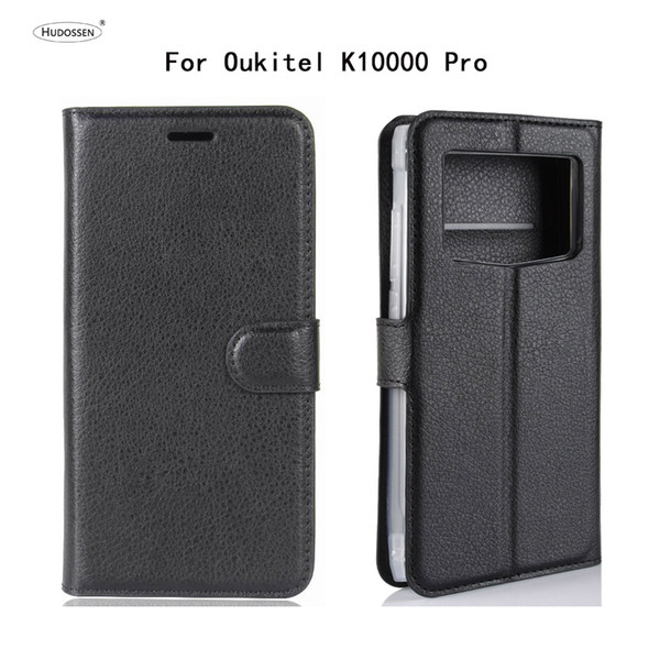 Mobile Accessories Mobile Phone Cases Covers HUDOSSEN For OUkitel K10000 Pro Case Luxury Flip Leather Back Cover Phone Accessories Bag Skin