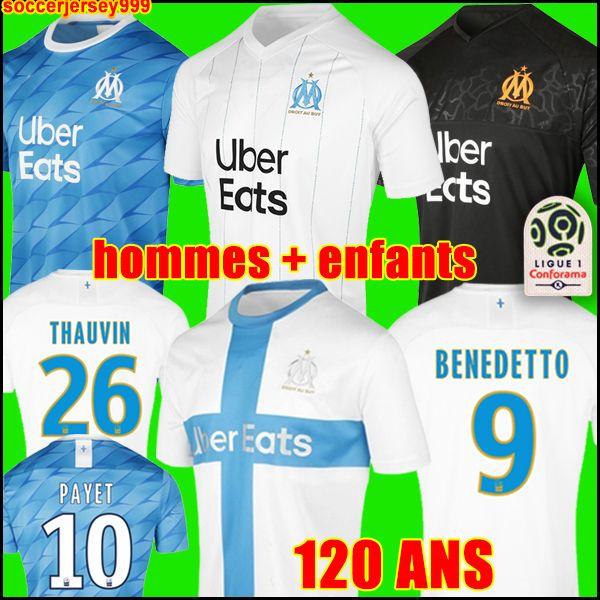 19 20 Olympique De Marseille Soccer Jersey Om 2020 Maillot De Foot