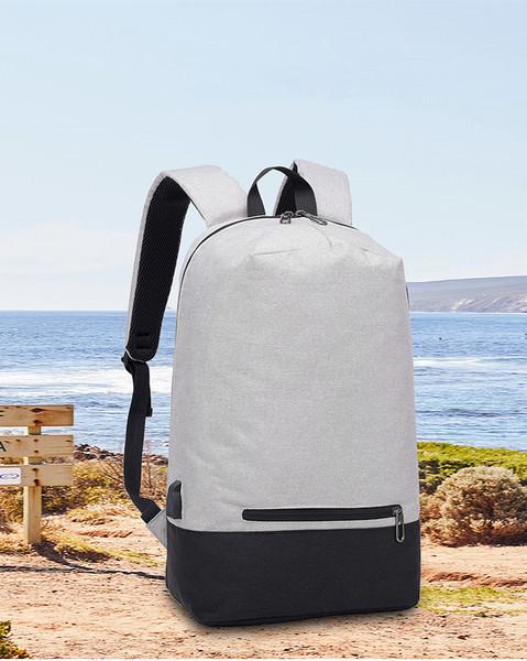 Men Simple Inset USB Backpacks Duffel bags Multifunctional Knapsack Travel Outdoor Teenager Students Shoulder Bag Large Capactiy 2 Colors