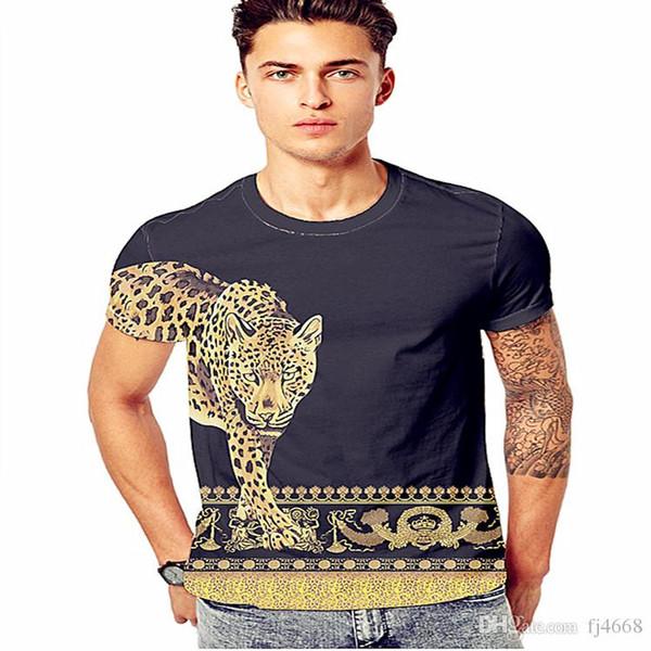 New T Shirt Mens Cotton Tees Tops Short Sleeve Slim Fit T Shirts Fashion Casual Medusa 3D Floral Printing Men T Shirts