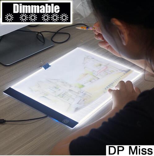 Dimmerabile! Tappetino ultrasottile a LED per tablet a LED A4 Applicabile a EU / UK / AU / US / USB Plug Diamond Diamond ricamo Diamond Painting Kit punto croce