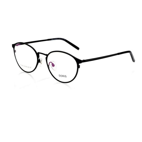 -138 titanium woman eyeglasses frame men RETRO art round frame female optical  design  spectacle eyewear frames