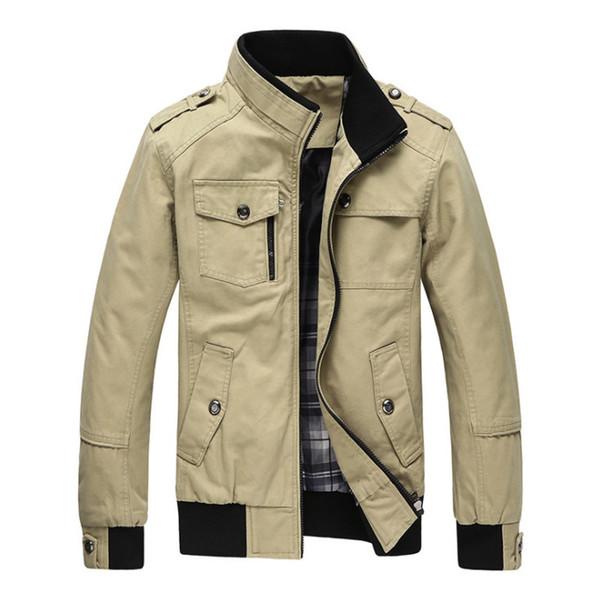 Herrenjacke Frühlingsjacke Cargo Plus Größe M- 4XL Soldat Wäsche Baumwolle Casual Mann Jacken Herbst Herren jaqueta