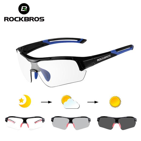 ROCKBROS Photochromic Cycling Sunglasses Eyewear UV400 MTB Road Bicycle Myopia Goggles For Women Men Outdoor Sports Bike Glasses