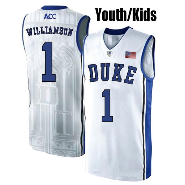 size 40 17c82 ae905 2019 2019 Kids Zion Williamson Youth Duke Blue Devils RJ Barrett Stitched  Blue Black White Kids College Basketball Jersey On Sale From Dorajerseys,  ...