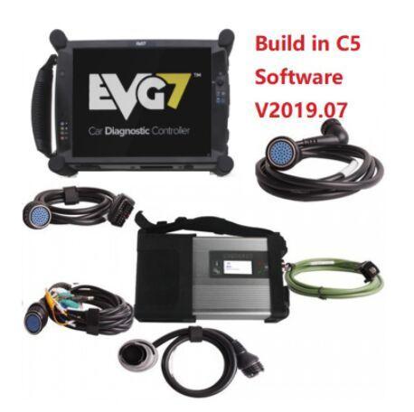 MB STAR C5 Interfaccia diagnostica funzione Wifi + Nuovo tablet EVG7 V2019.05 MB Star SD Connect C5 Software per auto e camion