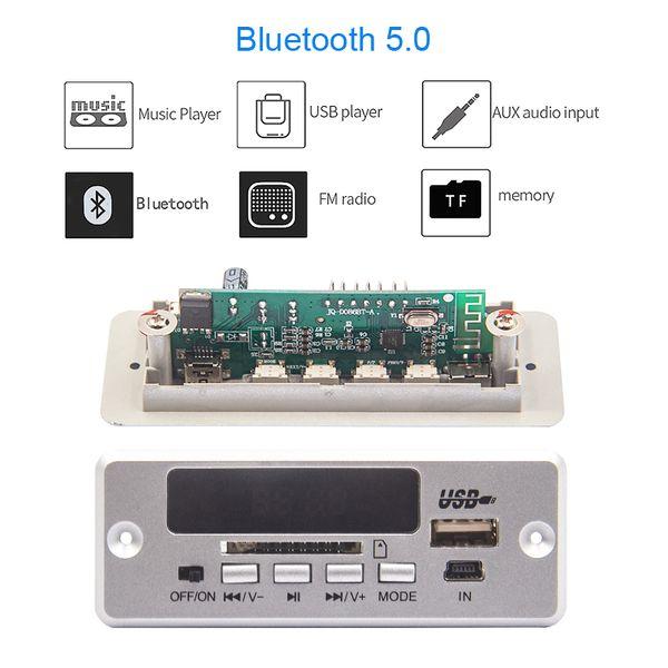 Bluetooth5.0 MP3 Decoding Board Module Wireless Car USB MP3 Player TF Card Slot / USB / FM Remote JQ-D086BT Plastic