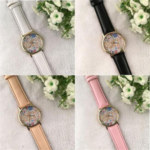 Leather Band Analog Quartz Vogue Wrist Watches Women Girl Watches Simple Popular Dress Clock Hot Selling 2019 bayan saatleri *L