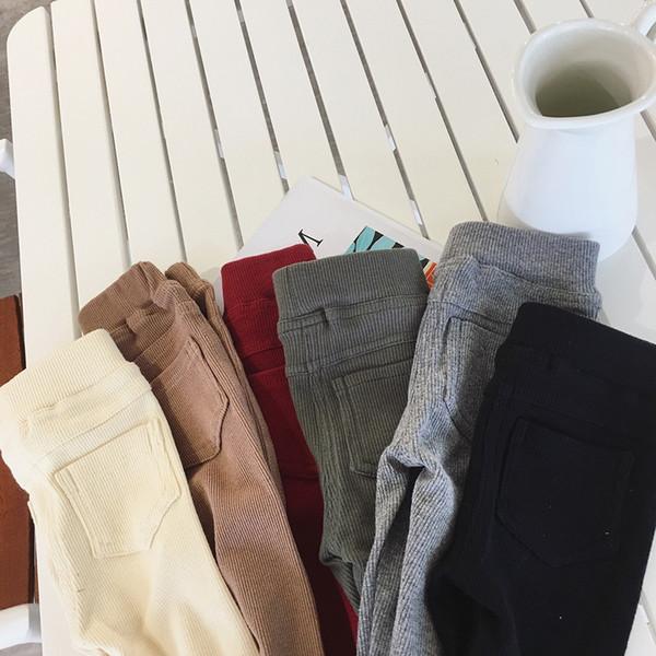 2019 New Fashion Knitting Kids Baby Girls Leggings Cotton Fall Spring Winter Pants Children Warm Girl Leggings Black Girls Pants