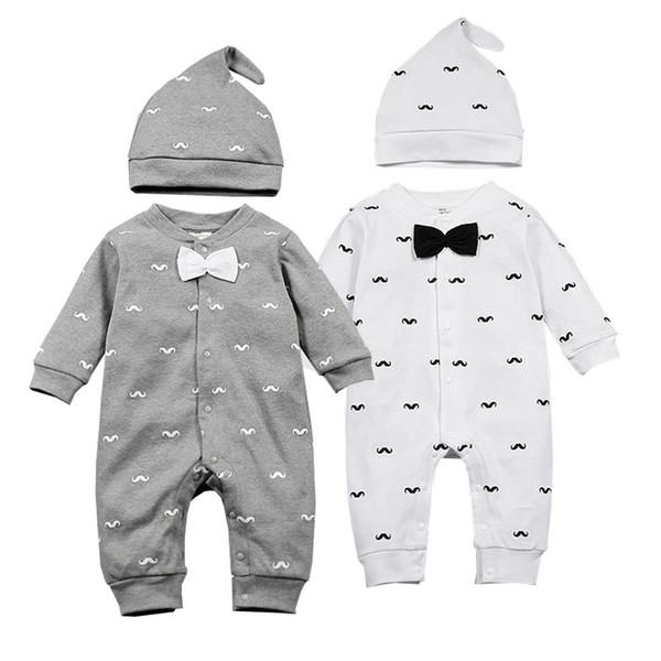 marktfähig Gedanken an bester Service Großhandel 2018 Frühjahr Neue Baby Kleidung Bart Print Mode Romper + Cap /  Set Neugeborenes Kleinkind Baby Kleidung Set Bebes Outfits 0 1T Y18120303  ...