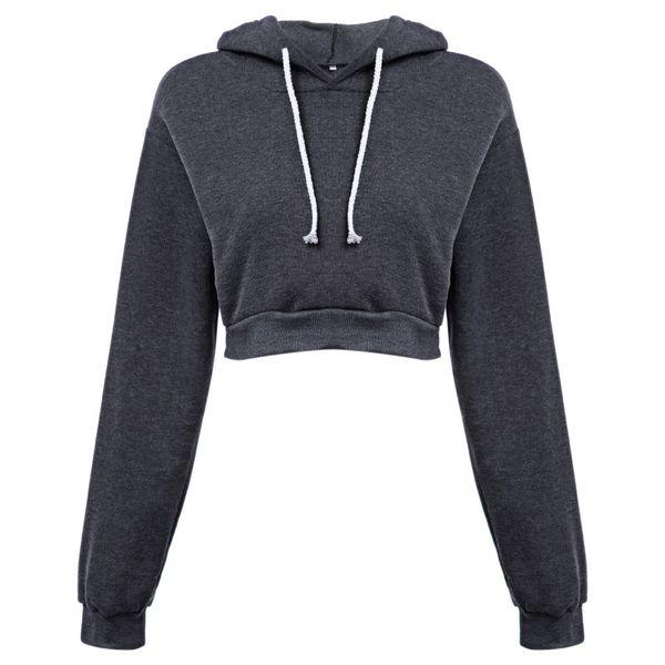 women hoodies sweatshirts cotton  solid crop hoodie long sleeve female jumper hooded pullover coat casual sudaderas mujer