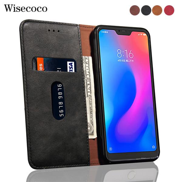 Flip case para xiaomi mi redmi 6 pro 6pro slot para cartão de suporte de carteira de couro de luxo A2Lite tampa do telefone para Xaomi Mi A2 Lite 4 Gb 64 Gb