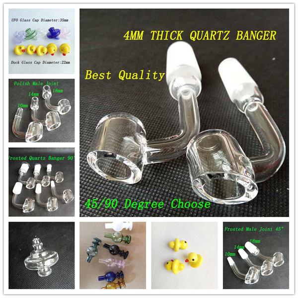 top popular Colored UFO Glass Bottle Carb Cap Yellow Duck Dome 35mm OD 5 color For Less 34mm Quartz Banger Nails 2mm 3mm 4mm Oil Rig 4 Styles Choose 2020