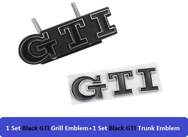 GTI negro para parrillas y traseros