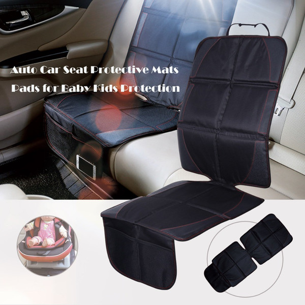 Leather Oxford Cotton Auto Car Seat Protector Universal Car Baby Kids Wear Kick Pad Protective Mats Pads for Seats Protection