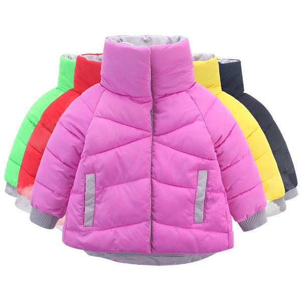 OLEKID 2019 Winter Jacket For Girls Brand Fashion Warm Candy Colors Girls Parka 2-7 Years Kids Baby Girls Outerwear Coat