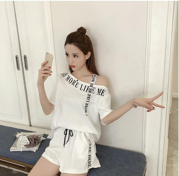 Women 'S Sets Short Sleeve T Shirt Tops And Shorts Sweat Suits Female Summer Tracksuits Runway Outfit Two Piece Sets Sporting Suit