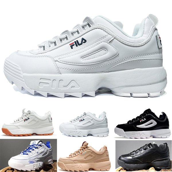 Acquista FILA Men Women Shoes Disruptors II 2 X Raf Simons Uomo Donna  Spessa Suola Bianca Sneaker Big Sawtooth Donna Spessa Altezza Inferiore ...