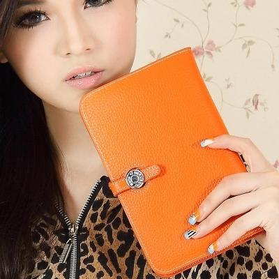 portafoglio del progettista di marca borsa della borsa delle donne borsa della signora passaporto ID carta di credito portafogli frizione pelle bovina portafoglio