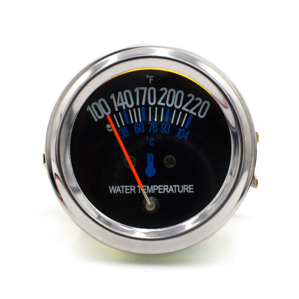 2inch 52mm 12V DC Electrical Mechanical Car Water temp Temperature Gauge Black Face Fahrenheit Water Temp meter