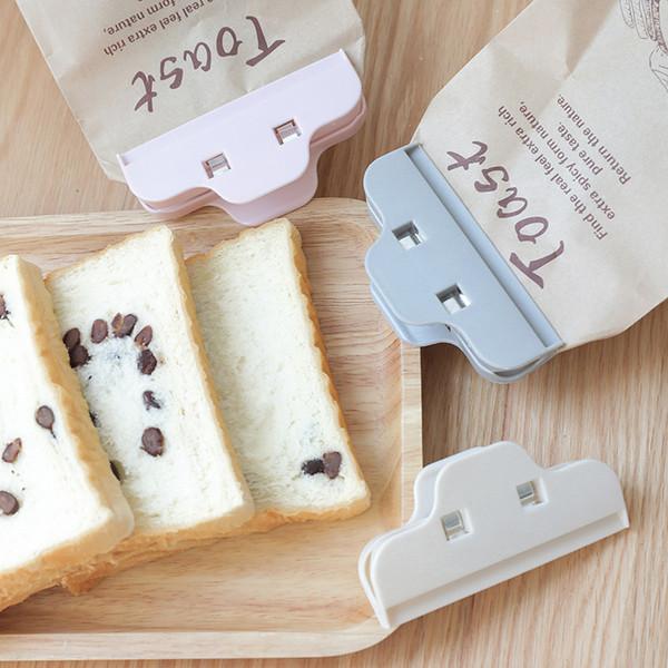 Graue Lebensmittel Versiegelungsklammer Kaffee Teeblatt Milchpulver Versiegeler Küchenzubehör Plastiktüte Versiegelungsklammer 0 5lz L1