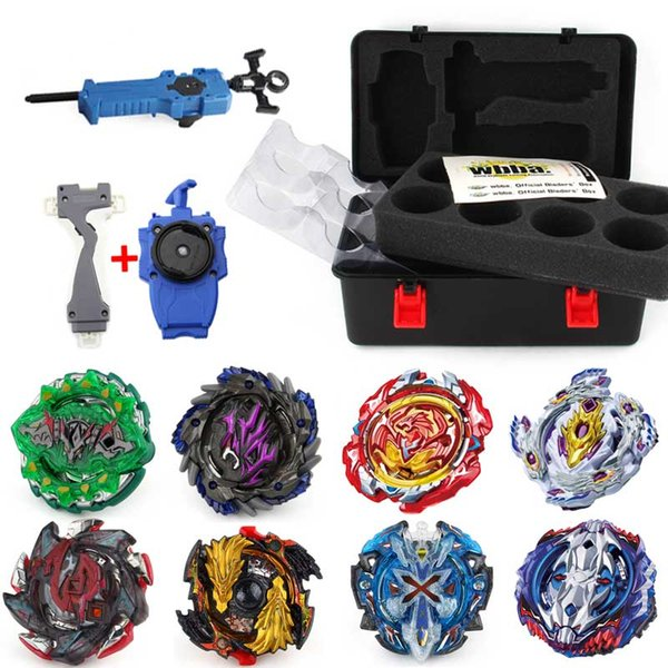 New Beyblade Burst Bey Blade Toy Metal Funsion Gold Bayblade Set Storage Box With Handle Launcher Plastic Box Toys For Children