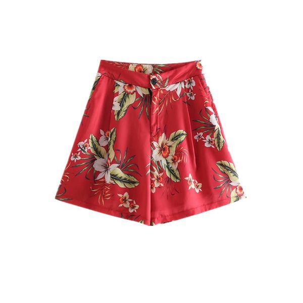 Sf1009-النمط الغربي WOMEN'S اللباس 2019 الصيف نمط جديد المطبوعة السراويل 2636329