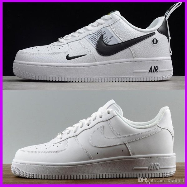 best selling New men women fashion airlis designer sneakers af1 shoes all white black forces 1 one low high sport good sale online