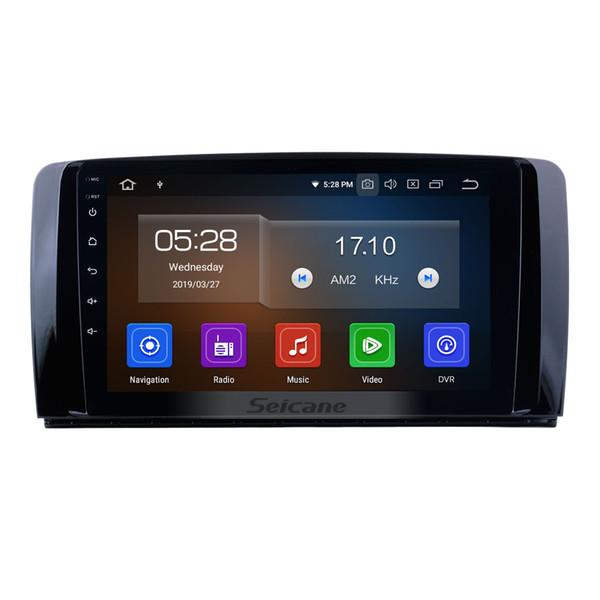9 Inch Android 9.0 Car Stereo GPS Navi for 2006-2013 Mercedes Benz R Class W251 R280 R300 R320 R350 R63 with Bluetooth USB support car dvd