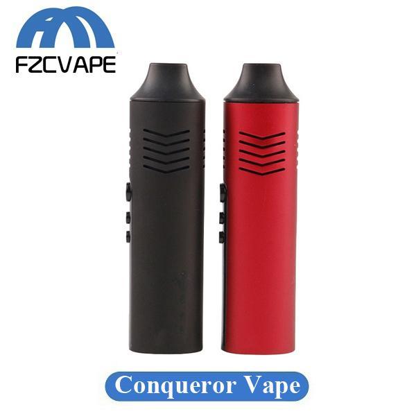 Authentic Hugo Vapor Budspirit Conqueror Vaporizer Kit 2200mAh Adjustable Temperature Dry Herb Vape Pen Herbal Starter Kit